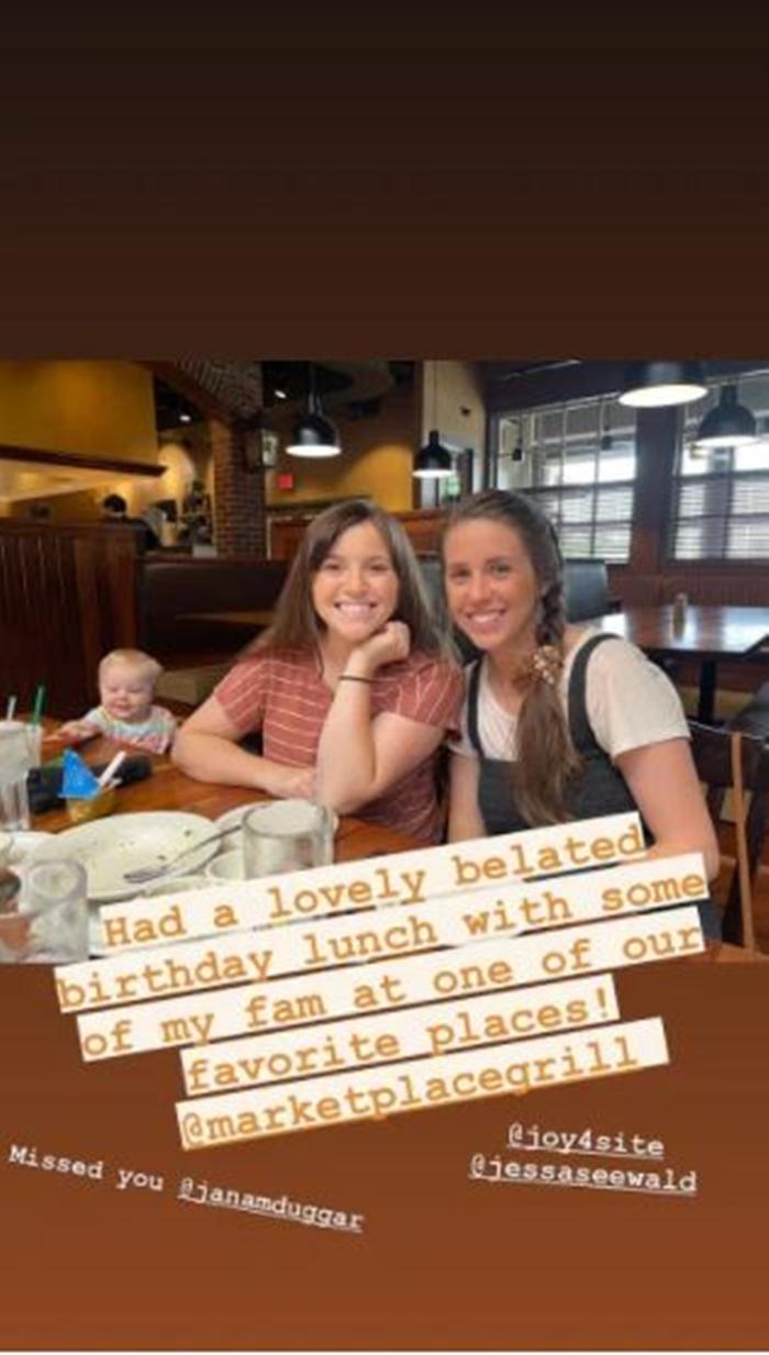 Duggar sisters Jill Dillard Birthday Lunch