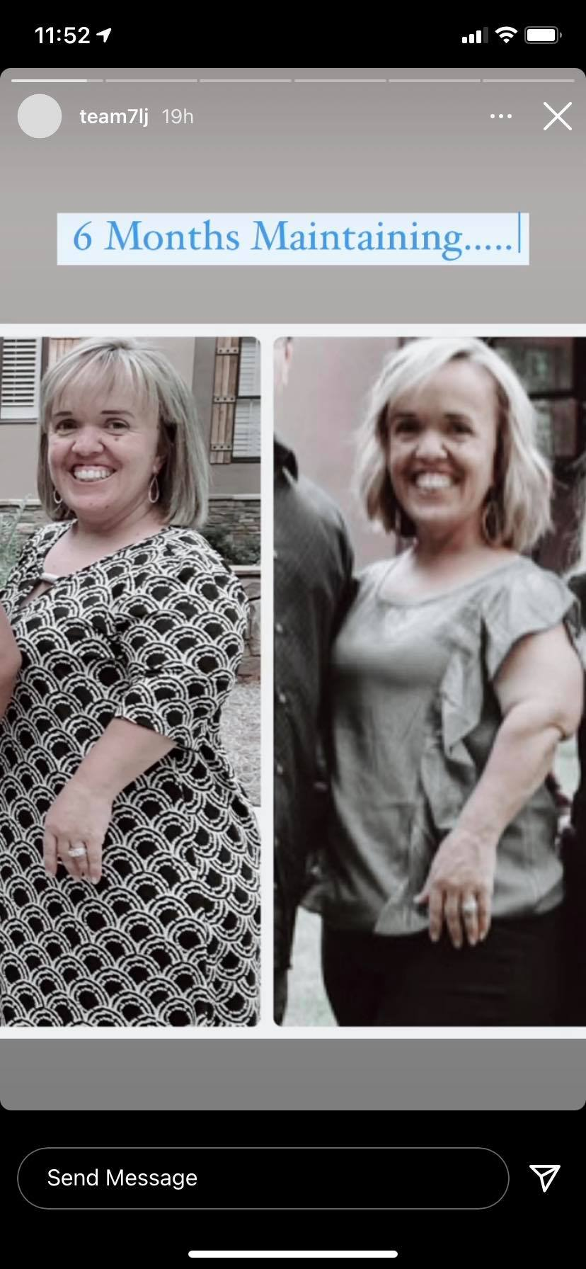 Amber Johnston comparison Weight Loss Photos May 2021