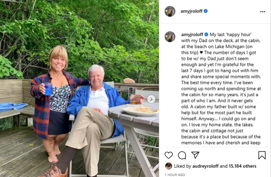 Amy Roloff Says Never 'Goodbye' But 'Til We Meet Again Dad'