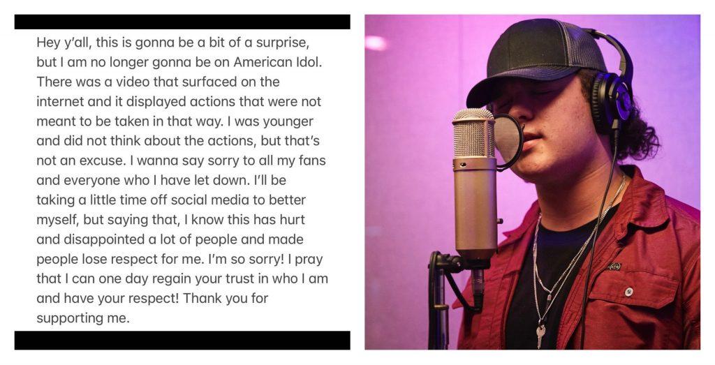 Caleb Kennedy exits American Idol