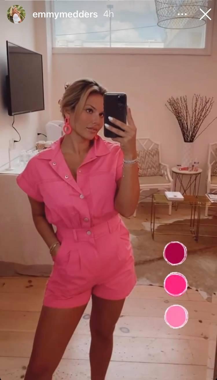 Chase Chrisley's Girlfriend Emmy Medders Rocks Pink Romper
