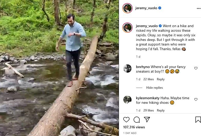 Jeremy Vuolo Says He Risked His Life Over Rapids