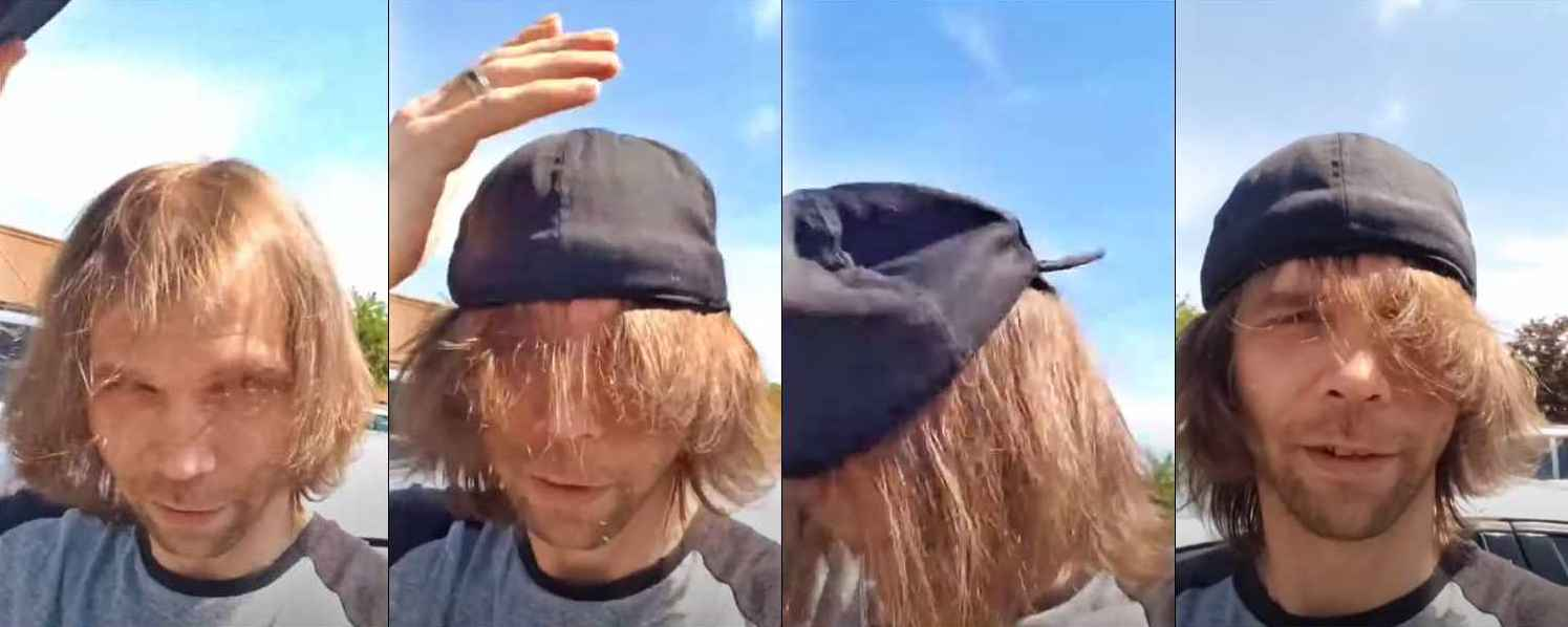 Jeremiah Raber of Return to Amish shows off his long hair