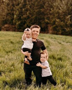 Zach Roloff with Jackson and Lilah