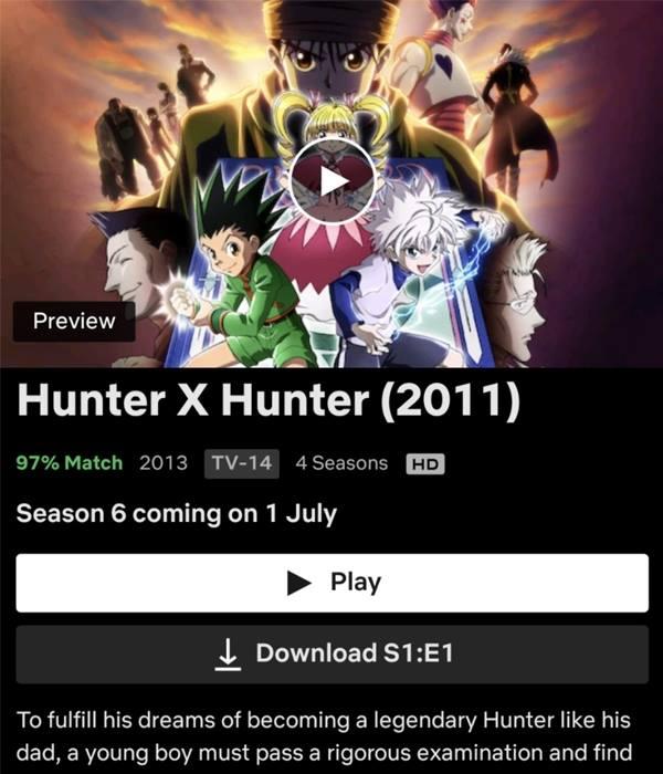 Hunter X Hunter Season 5 Netflix