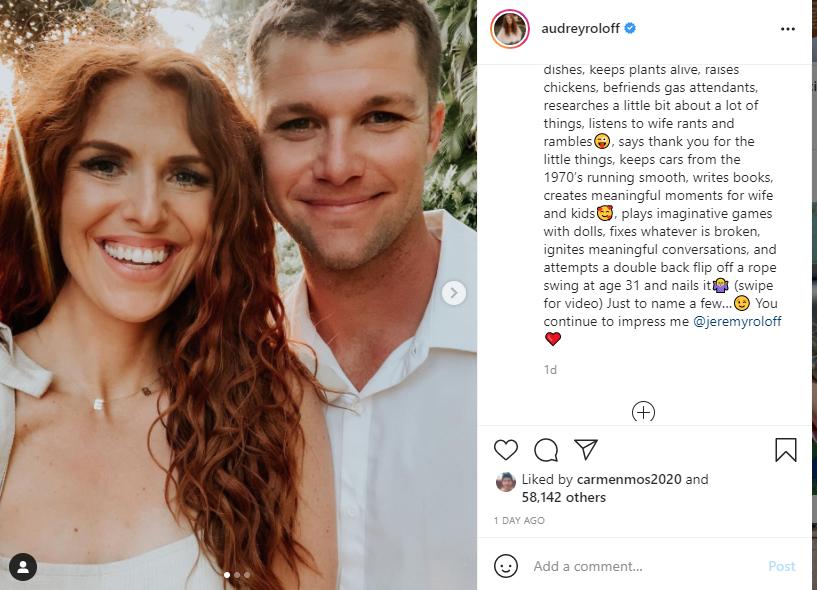 Audrey Roloff - Jeremy Roloff - Instagram