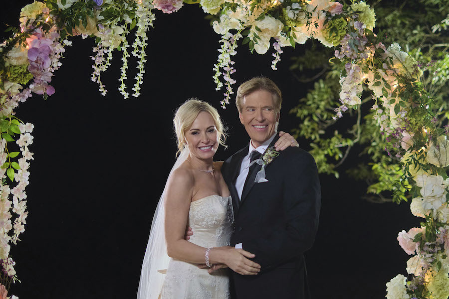Hallmark's Sealed With A Kiss Wedding March 6, Photo: Josie Bissett, Jack Wagner Credit: ©2021 Crown Media United States LLC/Photographer:David Astorga