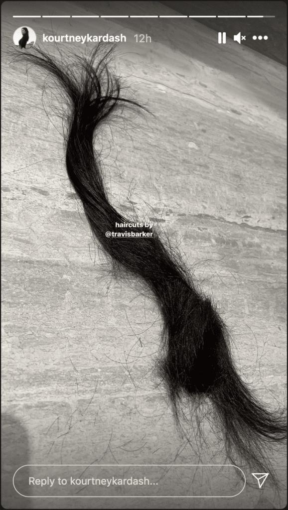 Kourtney Kardashian Travis Barker hair