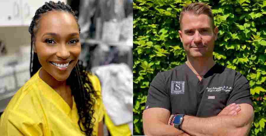 Dr. Ebonie Vincent and Dr. Bradley Schaeffer of Season 3 of My Feet Are Killing Me