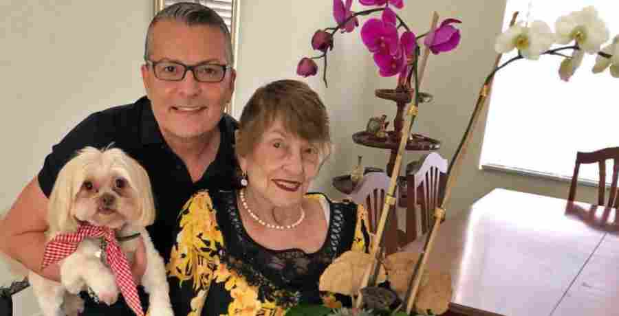 Randy Fenoli of Say Yes to the Dress with his mother, Jeannette