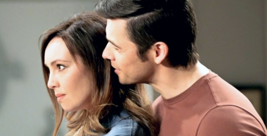 Gwen Rizczech (Emily O'Brien) - Xander Kiriakis (Paul Telfer) - NBC You Tube