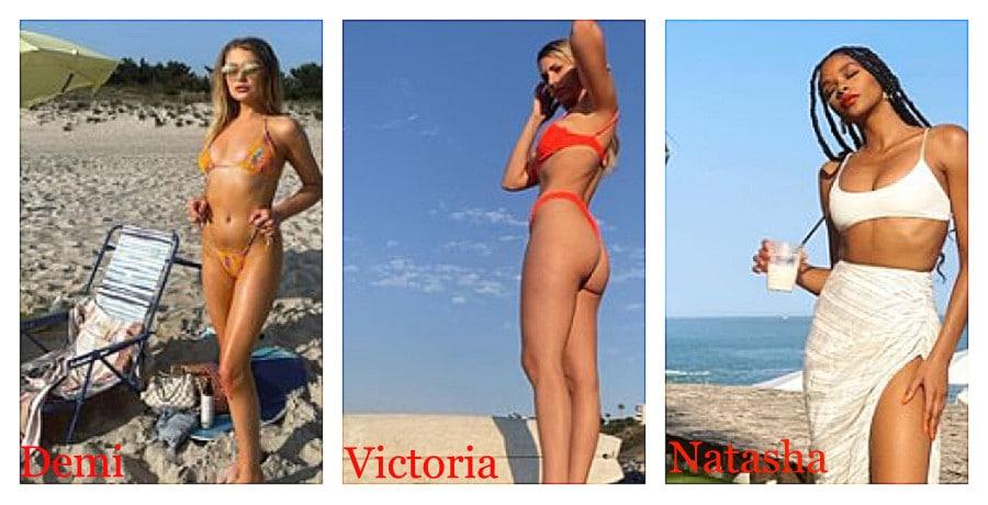 'Bachelor in Paradise' contestants Demi Burnett/Victoria Larson/Natasha Parker/Instagram