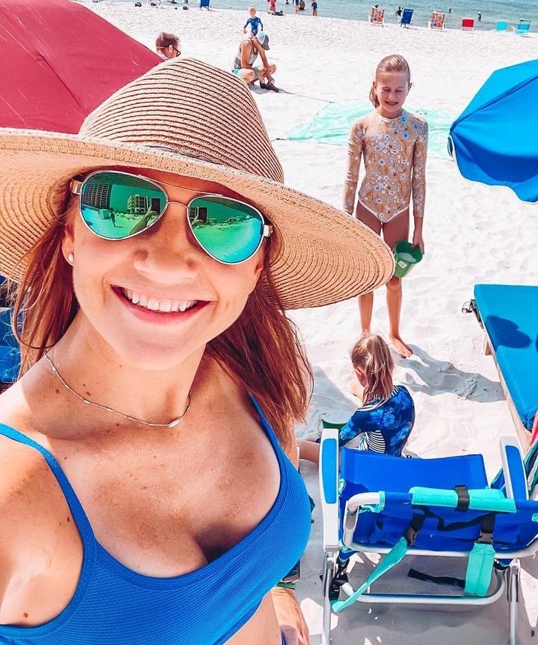 Danielle Busby Blue Bikini