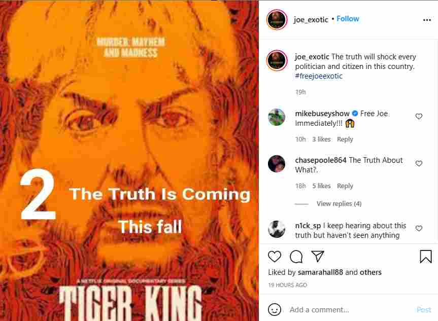 What is happening with Season 2 of Tiger King on Netflix?
