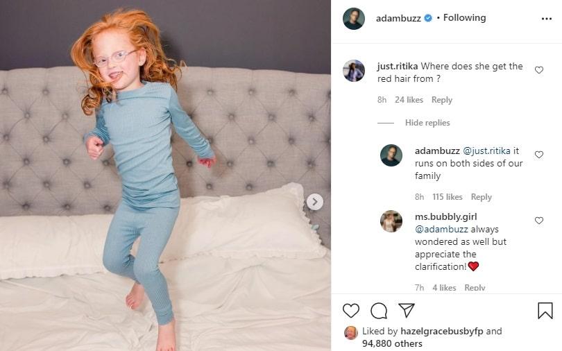 Hazel Busby Adam Busby Instagram