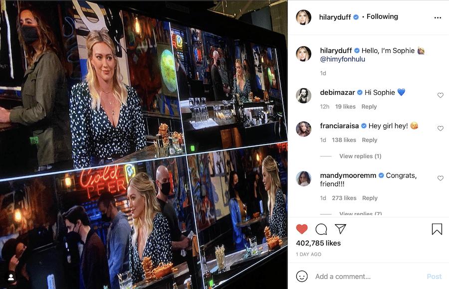Hilary Duff, HIMYF-https://www.instagram.com/p/CTSW6_vpYAN/