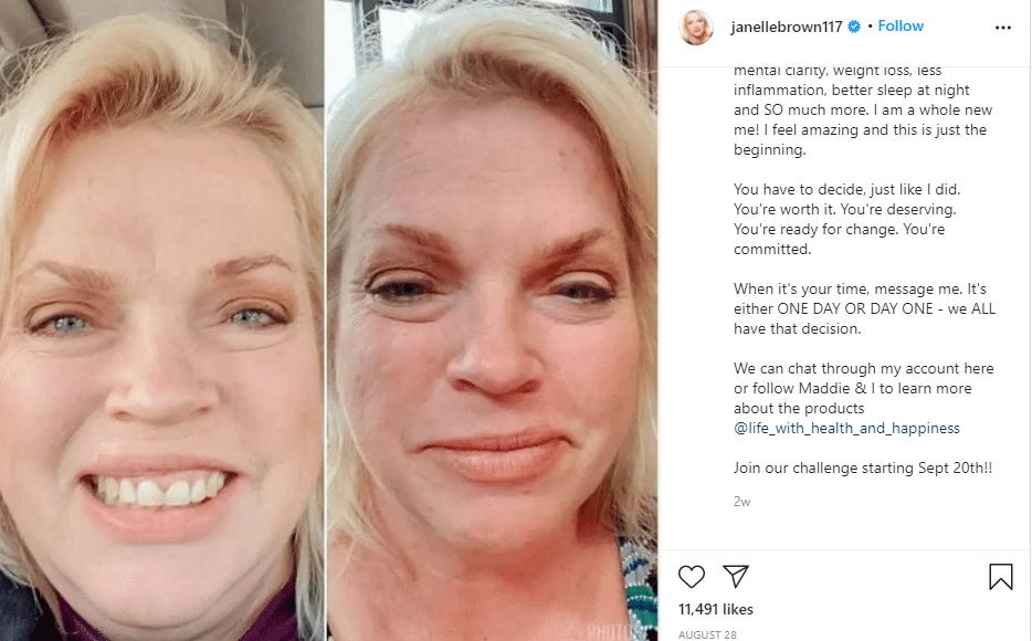 Janelle brown Instagram Post