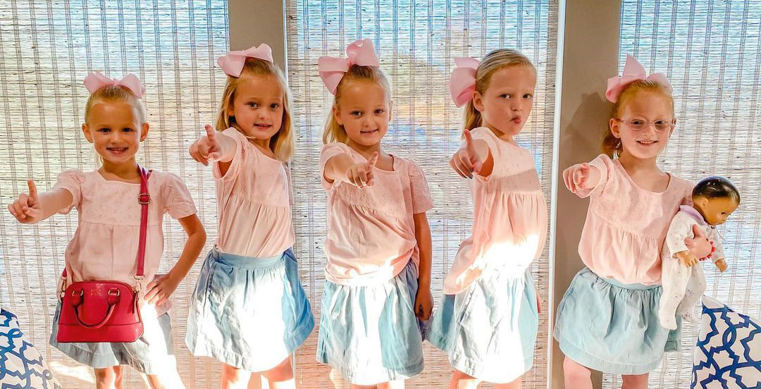 OutDaughtered Busby quints go to Claires
