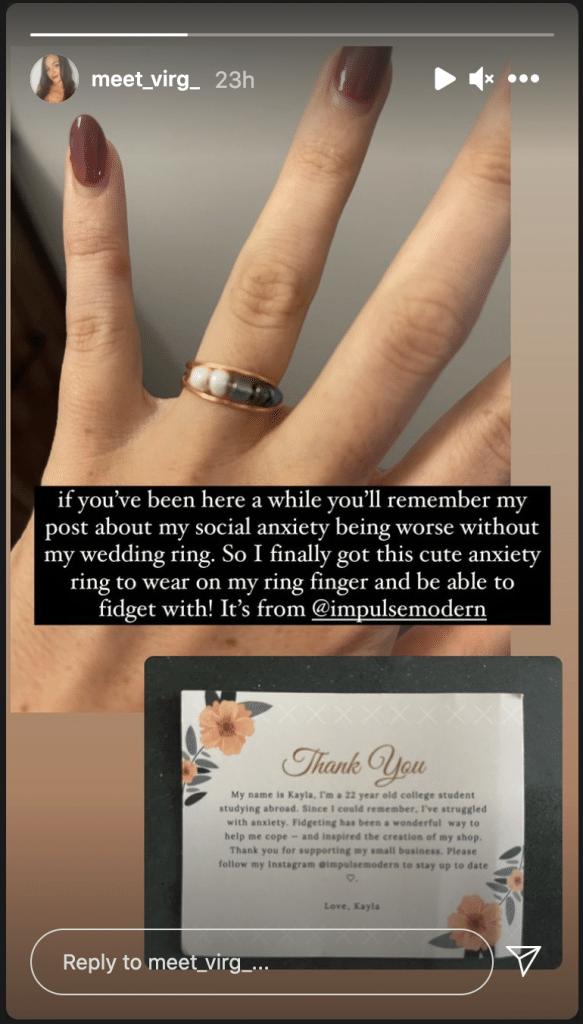 MAFS Virginia Coombs fidget ring