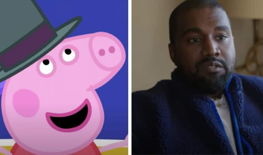 Peppa Pig and Kanye West from Youtube