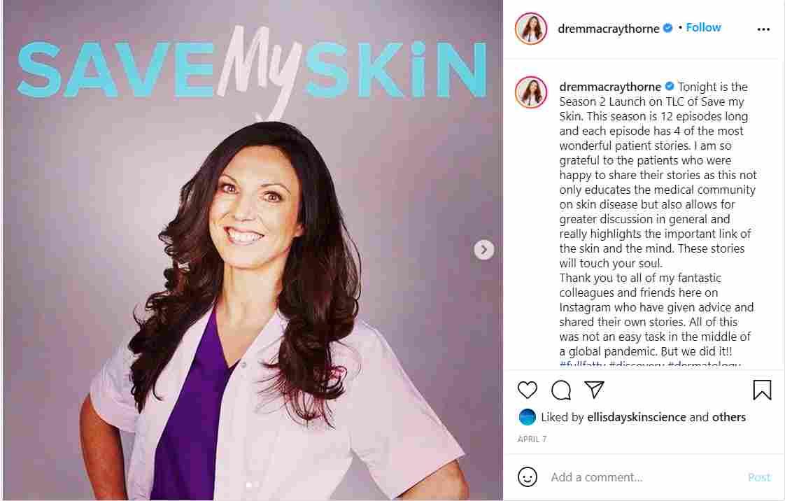 Dr. Emma Claythorne in Season 3 of Save My Skin on TLC
