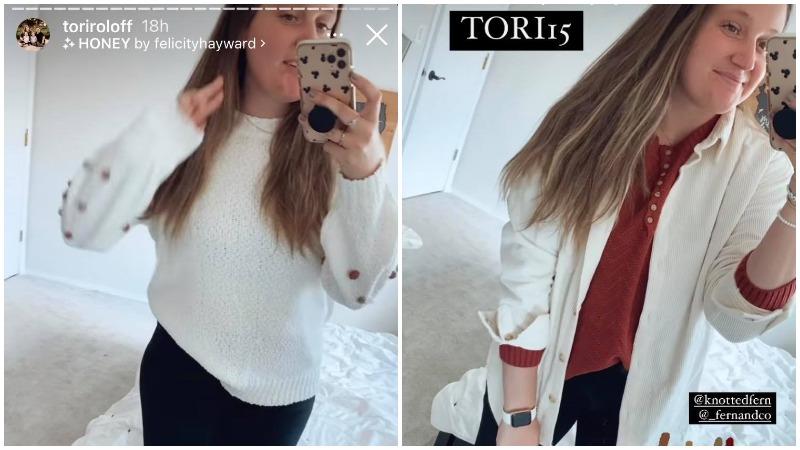 Tori Roloff Instagram Stories