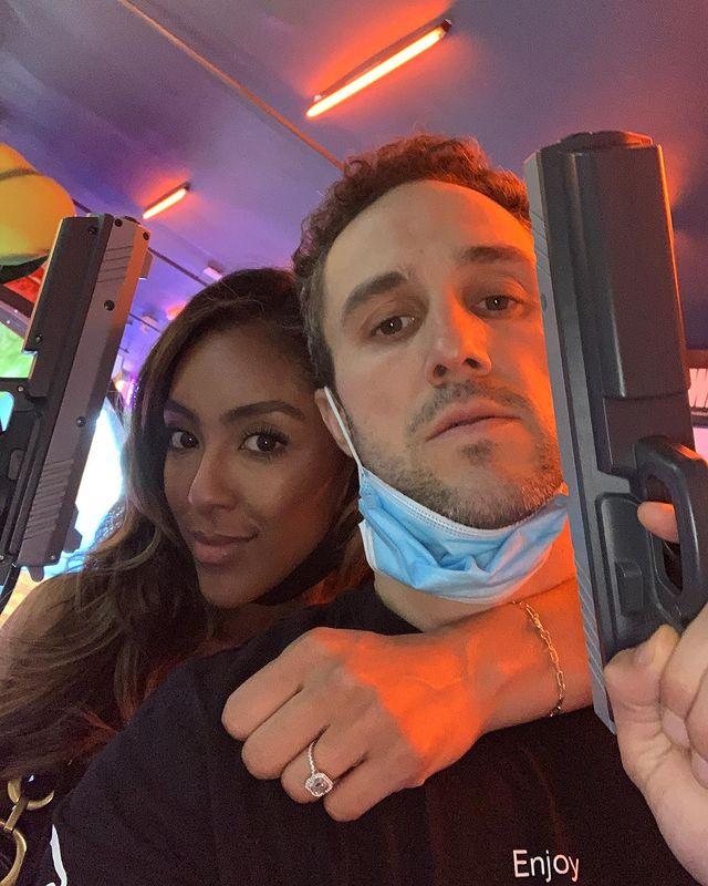 Tayshia Adams and Zac Clark via Instagram