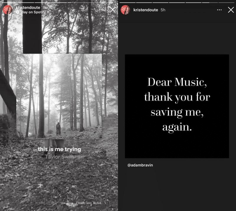 [Credit: Kristen Doute/Instagram Stories]