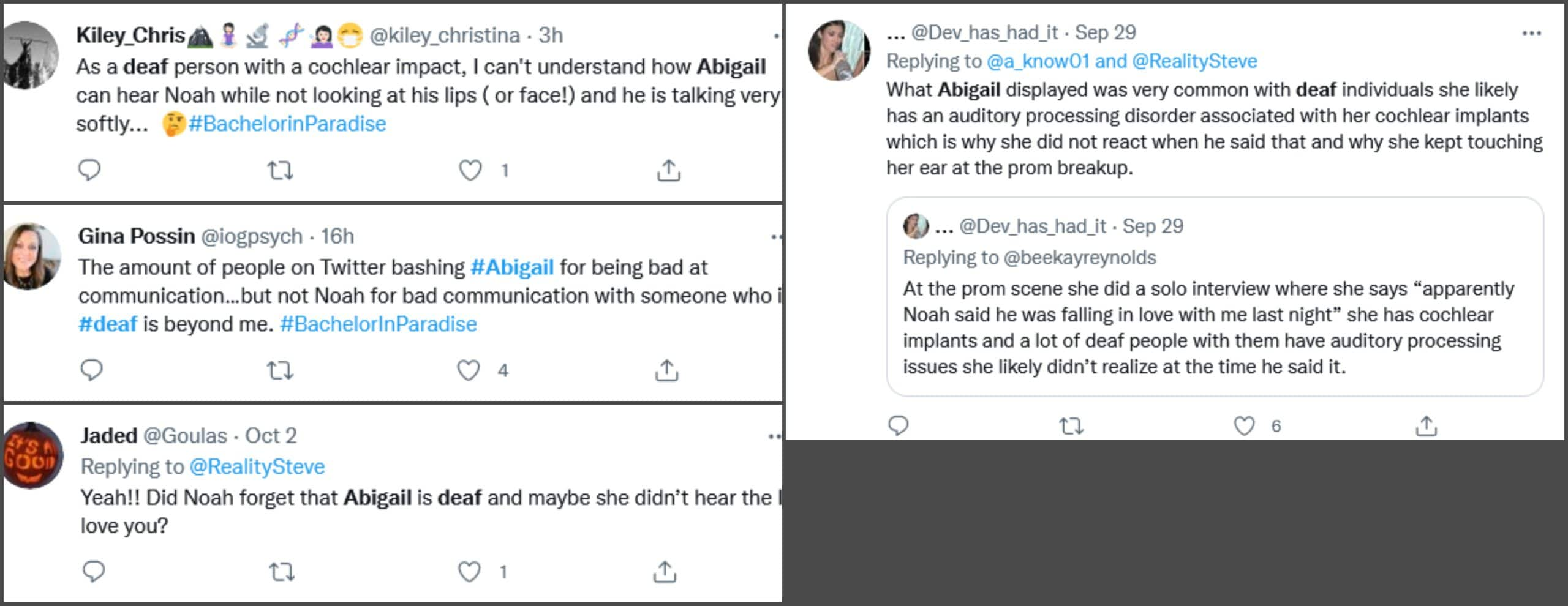 Comments about Abigail Heringer via Twitter